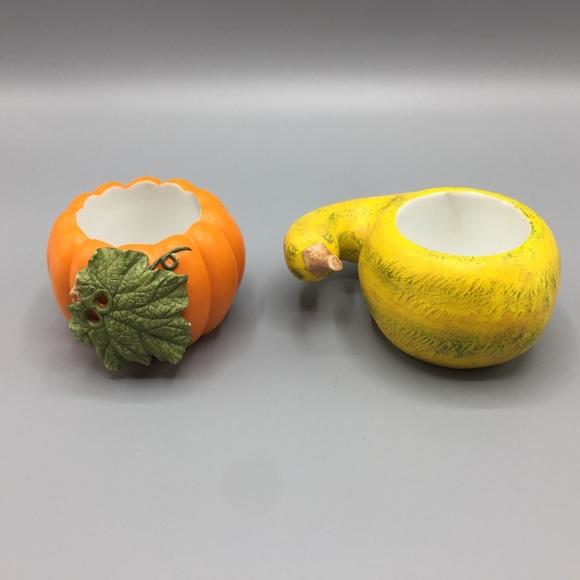 PARTYLITE Pumpkin & Gourd Votive Holders